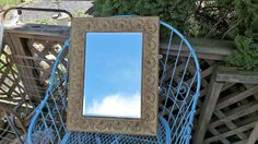 Vintage *Cottage Charm*French Chic*Farmhouse*Primitive*Prairie Style* Romantic Home*Old Wood &Gold Metal Frame Mirror by thebedpost02 on Etsy