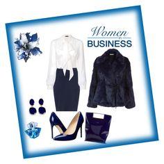 """Woman in business"" by alexa-78 on Polyvore featuring moda, Zizzi, Plein Sud, Ivanka Trump, Delpozo, Elizabeth and James, Kenneth Jay Lane e Thierry Mugler"