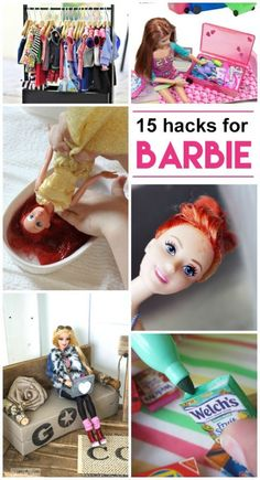 I can't wait to get started on all of these Barbie hacks! If you have a little one like mine who loves all things Barbie, these ideas are going to blow your mind. Diy Barbie Furniture, Dollhouse Furniture, Barbie Clothes Patterns, Diy Barbie Clothes, Sewing Doll Clothes, Doll Dress Patterns, Clothing Patterns, Barbie Doll House, Barbie Dolls Diy