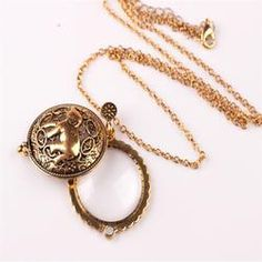 Elephant Tree Of Life Circle Magnifying Glass Necklace