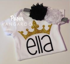 personalized princess crown top, personalized tiara top, princess shirt, princess top, tiara, crown by PaperKangaroo on Etsy https://www.etsy.com/listing/251193092/personalized-princess-crown-top