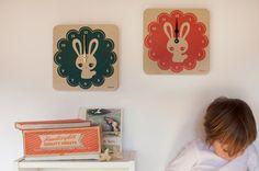 LulaBunny clock in teal by lulabirddesign on Etsy, £30.00