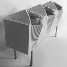 New York artist and designer Sebastian Errazuriz has added a slatted cabinet that opens in waves to his range of unfurlable furniture. Funky Furniture, Cabinet Furniture, Contemporary Furniture, Furniture Decor, Furniture Design, Deck Furniture, Furniture Buyers, Furniture Dolly, Office Furniture
