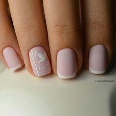 25 modelos de francesinha para unhas Gel Nails French Tip, Nails French Design, White French Nails, Pink French Manicure, Pink White Nails, White Nail Art, Matte Pink, Ongles Gel French, Black Nails