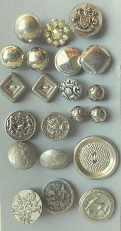 21 vintage metal buttons various periods by CarolasChoices