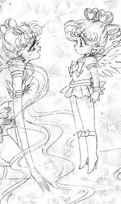 .eternal sailor moon and sailor chibi-chibi moon