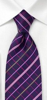Bows N Ties Style SB2461 Necktie Groomsmen Accessories in Eggplant