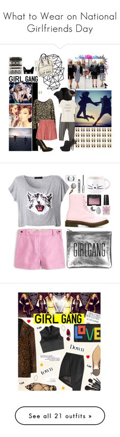 """""""What to Wear on National Girlfriends Day"""" by polyvore-editorial ❤ liked on Polyvore featuring WhatToWear, nationalgirlfriendsday, GALA, Alice + Olivia, Longchamp, CASSETTE, With Love From CA, Marc Jacobs, Tsumori Chisato and Izabel London"""