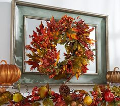 Harvest hues. This lovely fall wreath by Valerie brings all the rich colors of…