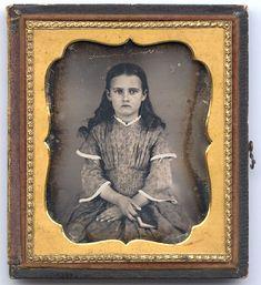 "Daguerreotype Photograph, American, ca. 1850, signed, ""Amanda"""