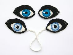 Crochet PATTERN Eyes BOOKMARK and applique / motif for dolls, amigurumi or to decorate iPad cover - Original design by TheCurioCraftsRoom from TheCurioCraftsRoom on Etsy Studio Marque-pages Au Crochet, Crochet Eyes, Crochet Amigurumi, Crochet Motifs, Amigurumi Patterns, Amigurumi Doll, Crochet Crafts, Crochet Dolls, Doll Patterns