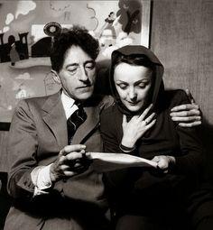 Edith Piaf et Jean Cocteau.
