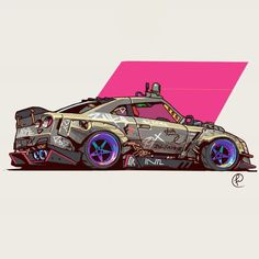 GTR by Fernando Correa : ImaginaryVehicles Gtr Drawing, Cool Car Drawings, Street Racing Cars, Drifting Cars, Car Illustration, Automotive Art, Automotive Engineering, Automotive Industry, Cyberpunk Art