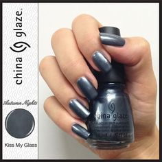 China Glaze Kiss My Glass, a metallic blue gunmetal silver! China Glaze Kiss My Glass,一個灰銀的金屬色!  購買方式 Orders:Email/WeChat落order或直接在網站內揀選 Order online or send your order by email/WeChat 付款方式 Payment:HSBC轉帳或PayPal  HSBC Bank Transfer or PayPal 網站 Store:http://shop.pretty-lil-things.com Facebook: http://www.facebook.com/prettylilnailshk WeChat: prettylilnailshk Email: shop@pretty-lil-things.com