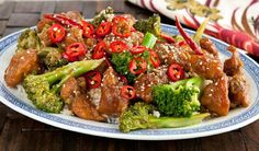 General Tao's Chicken - In the Kitchen with Stefano Faita Veggie Recipes, Asian Recipes, New Recipes, Dinner Recipes, Cooking Recipes, Favorite Recipes, Ethnic Recipes, Dinner Ideas, Sauces