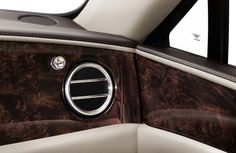 The new Bentley Flying Spur - interior chromed vent detail
