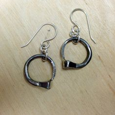 Horseshoe Nail Circle Dangle Equestrian by WirestormCreations