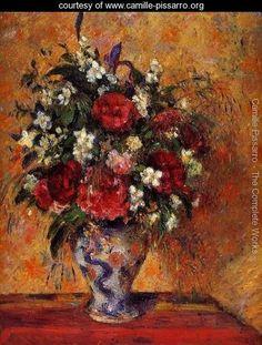 Vase of Flowers - Camille Pissarro - www.camille-pissarro.org