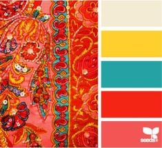 Beaded Bright colour palette by Design Seeds Room Color Schemes, Room Colors, House Colors, Paint Colors, Colours, Design Seeds, Colour Pallette, Color Palate, Color Combos