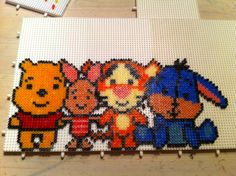 Winnie the Pooh and friends hama perler beads by Majbrit Fjordvald