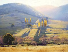 Best Landscape painting - LANDSCAPE PAINTING traditional Oil Painting rural landscape fine art tarana by Graham Gercken Impressionist Landscape, Abstract Landscape, Landscape Paintings, Desert Landscape, Farm Paintings, Tree Paintings, Australian Artists, Art Oil, Painting Inspiration