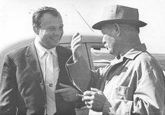 Юрий Гагарин и Михаил Шолохов, 1967 г