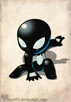 Little Black Spider-man by *shamserg on deviantART