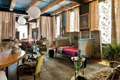 Agnes Deyn's amazing and perfectly appointed loft. I'm pretty sure this is my dream home. I know some find the decor overwhelming, but I think it is absolute perfection.