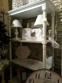 coppia di abat jours shabby