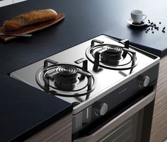 MOAT Gas range 'Gas stove with inclined plane for easy cleaning by collecting detergent'