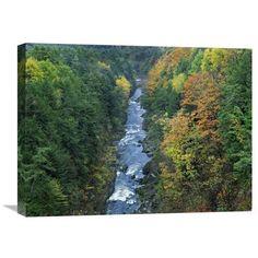 Ottauquechee River And Quechee Gorge, Vermont By Tim Fitzharris, 18 X 24-Inch Wall Art