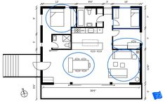 How to read floor plans - locate the dimensions or a scale. Click through to www.houseplanshelper.com for more on how to read floor plans, house plans and for more on home design. Bathroom Layout, Kitchen Layout, Blueprint Symbols, Floor Plan Symbols, Free Floor Plans, Space Words, Comfy Sofa, Building A New Home, Internal Doors