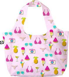 Icecream & Bikini her, wir fahren ans Meer! BG Berlin Pink Summer Faltbeutel Eco Bag 118 pink summer 🎉