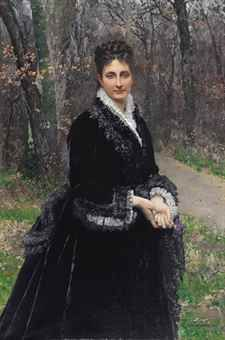 "Marie-François Firmin-Girard: ""Baronne Marguerite Bernou de Rochetaillée de Dampierre"", 1875, oil on canvas, 59 x 39 3/8 in. (149.9 x 100 cm.), p;rivate collection."