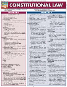 BarCharts' 2011 version of its best-selling Constitutional Law study guide includes the latest information on legally binding constitutional powers—or lack ther Law Notes, Constitutional Law, Police Academy, Medical Coding, Paralegal, Criminology, Political Science, Law School, Senior Boys
