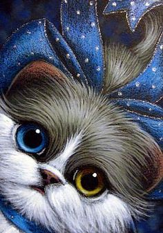 Detail Image for art *TUXEDO PERSIAN CAT ODD EYES - YOUR GIFT 2 Realistic Animal Drawings, Animals And Pets, Cute Animals, Cute Cats Photos, Himalayan Cat, Rainbow Art, Snoopy, Paintings I Love, Pretty Cats