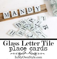 Look what I found!  white glass Scrabble tiles