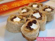 Fun Kid Lunch: Sushi Sandwich... pb, raisins, marshmallows