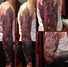 amazing building tattoo
