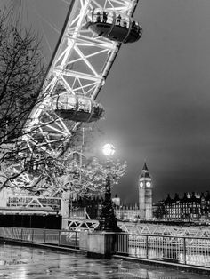 The London Eye And, On The Background, The Big Ben by Borchi, Massimo - Wall Art Giclee Print or Canvas
