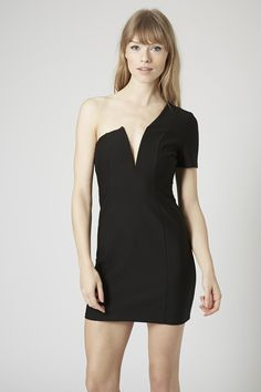 **One Shoulder Plunge Bodycon by Rare - Dresses - Clothing - Topshop Europe