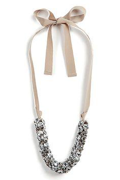 diamond & ribbon necklace