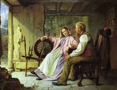 Rustic Courtship, by William Henry Midwood Art And Illustration, Illustrations, Victorian Paintings, Victorian Artwork, Academic Art, Cottage Art, Tea Art, Art Uk, Couple Art