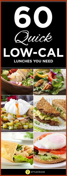 69 Quick Low Calorie Lunches That Are Yummy To Low Calorie Lunch recipes that are both super-nutritional and delicious. And guess what? They are no more than 400 calories each. Lunch Recipes, Diet Recipes, Cooking Recipes, Healthy Recipes, 300 Calorie Lunches, Low Calorie Recipes, Calorie Diet, Low Cal Lunch, Healthy Snacks