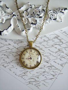 """Medaillonketten - Kette """"Vintage Uhr"""" - ein Designerstück von Love-design bei…"""