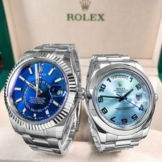 Which 2 Beautiful Rolex Pieces are you adding to your Collection? Sky Dweller or Day-Date Platinum $20500 Unworn $38500 . . . .