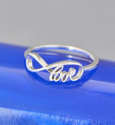 Infinity Love Ring, Promise Ring, Infinity Ring, Friendship Ring, Infinity Jewelry, Love Ring, Love Word Ring, Love in the Infinity Ring