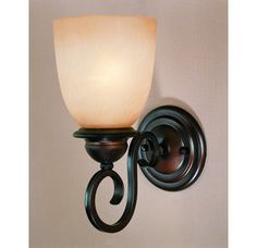View the Laura Ashley VCHM0161 Chamonix 1 Light Wall Light at LightingDirect.com.