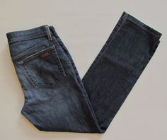 "Joe's Jeans 32 Brixton Earnest Men Dark distressed Blue Slim Straight 31"" Hemmed #JoesJeans #SlimSkinny"