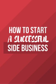 Love it! Many tips to learn how to start a business on the side